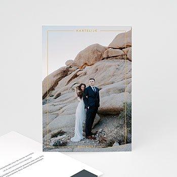 Chique bedankkaartjes huwelijk - Mineraalblauw - 0