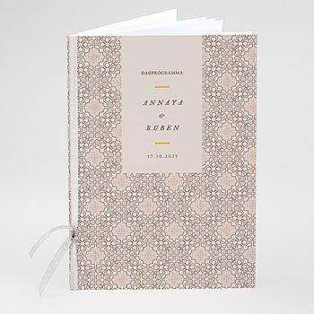 Boekomslag voor kerkboekje - Moorse stijl - 0