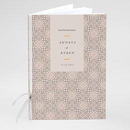 Boekomslag voor kerkboekje Moorse stijl
