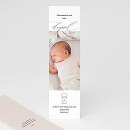 Bedankkaarten doopsel met foto Typo