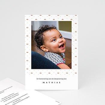 Bedankkaarten doopsel met foto Scheepsjongen