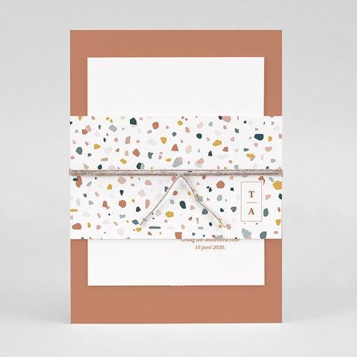 Creatieve trouwkaarten - Terrazzo Goud 74037 thumb