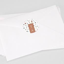 Stickers Huwelijk Terrazzo Goud