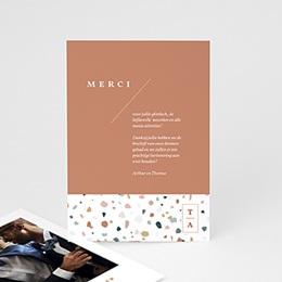 Bedankkaartjes Huwelijk Terrazzo Goud