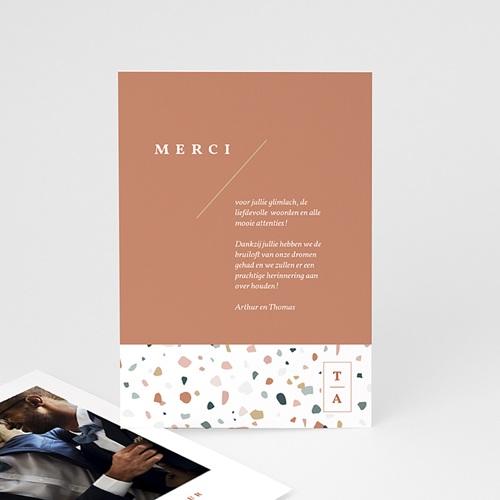 Creatieve Bedankkaartjes Bruiloft Terrazzo Goud