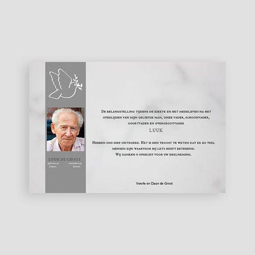 Universele rouwkaarten - Verlaten portret 74809 thumb