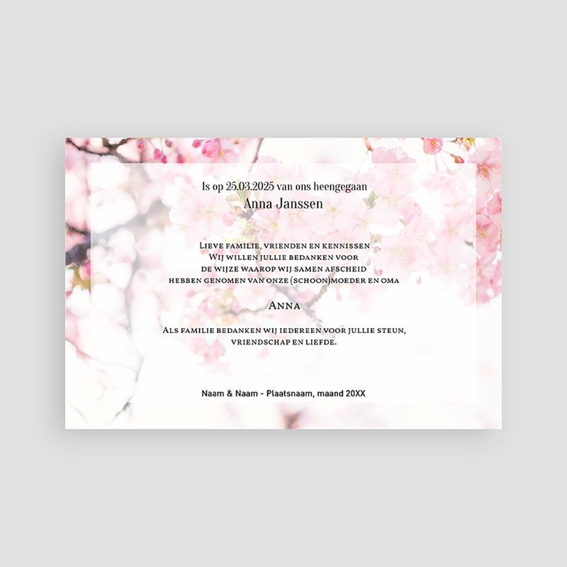 Universele Bedankkaartjes Overlijden Vroege rozen pas cher