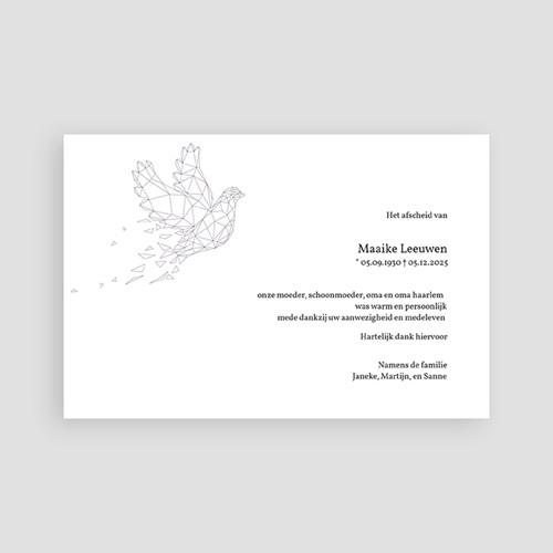 Universele Bedankkaartjes Overlijden Lila vredesduif pas cher
