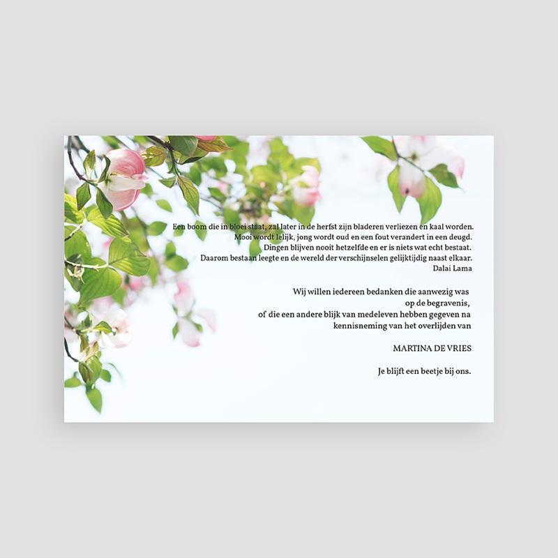 Universele Bedankkaartjes Overlijden Eeuwige rozen pas cher