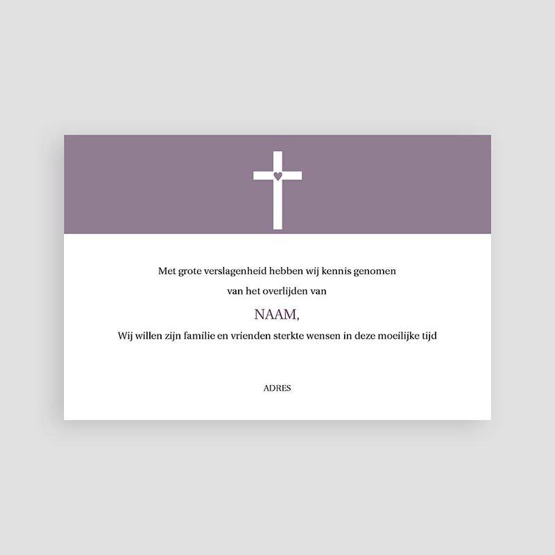 Bedankkaarten overlijden, Christelijk - Modern geliefd 74827 thumb