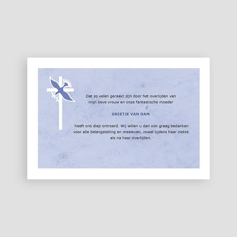 Bedankkaarten overlijden, Christelijk - Blauw pastel 74832 thumb