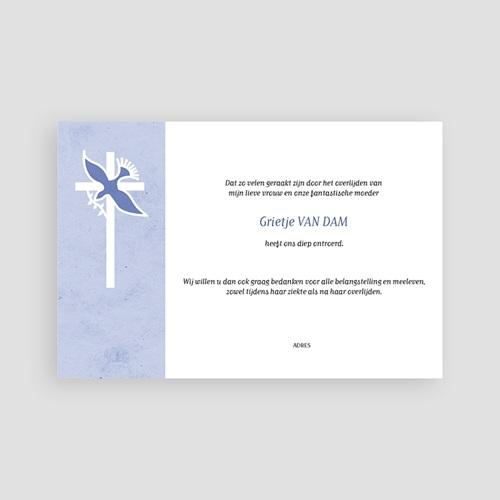 Bedankkaarten overlijden, Christelijk - Blauw pastel 74833 thumb