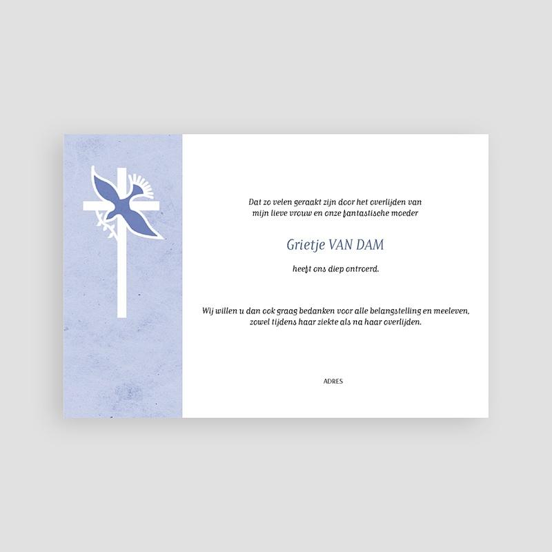 Christelijke Bedankkaartjes Overlijden Blauw pastel pas cher