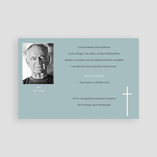 Bedankkaarten overlijden, Christelijk - Onsterfelijke gedachte 74836 thumb