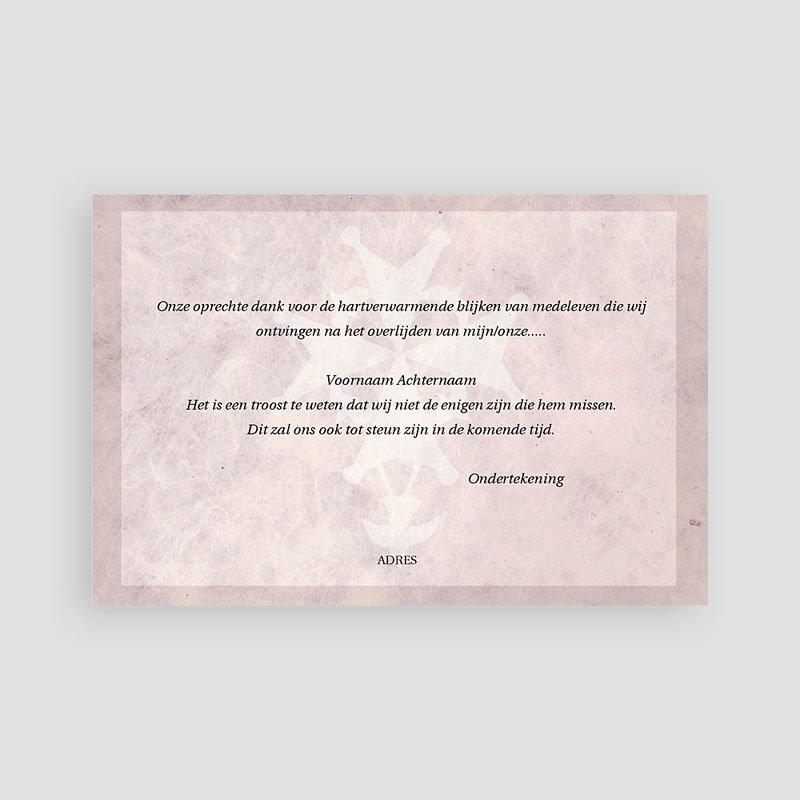 Christelijke Bedankkaartjes Overlijden Roze marmer, Hugenotenkruis pas cher