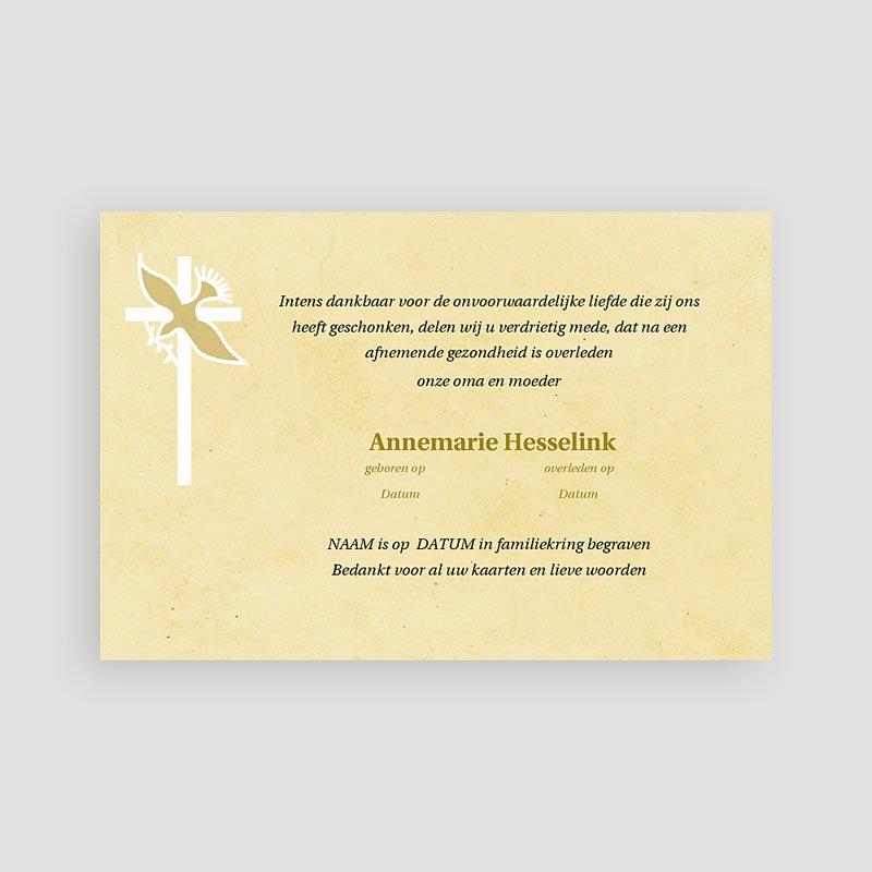 Christelijke Bedankkaartjes Overlijden Geel beige pastel pas cher