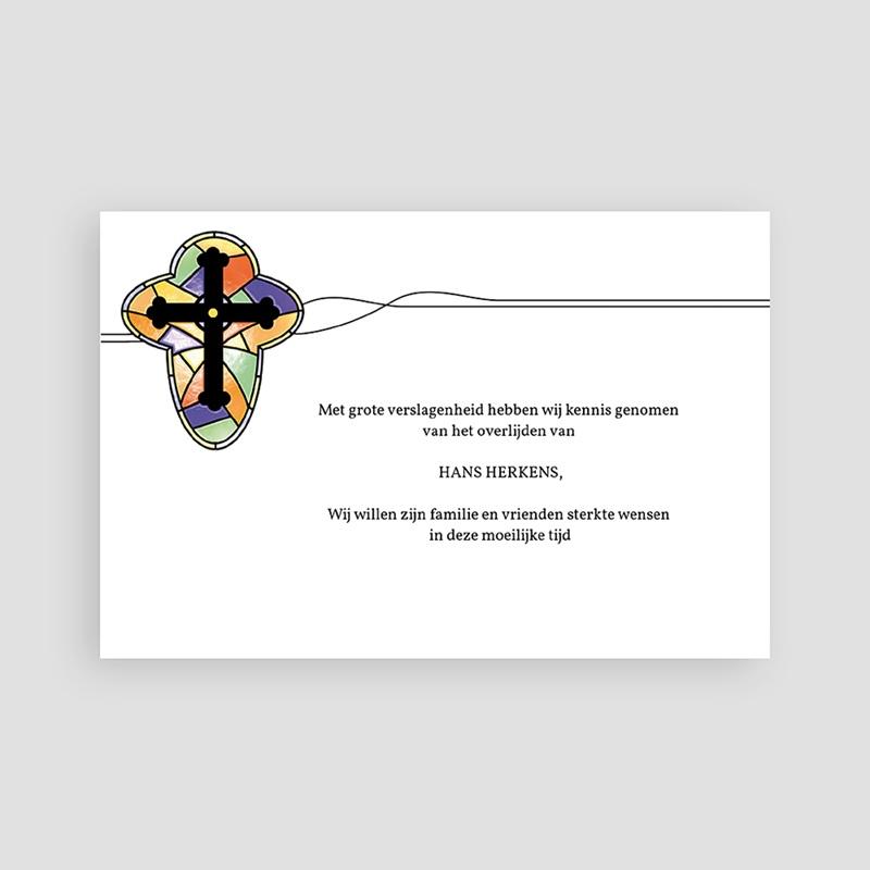 Christelijke Bedankkaartjes Overlijden Glas in lood pas cher