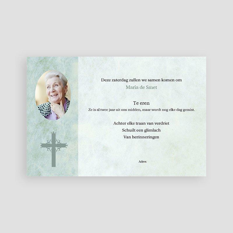 Christelijke Bedankkaartjes Overlijden Blauwgroen marmer, katholiek protestants pas cher