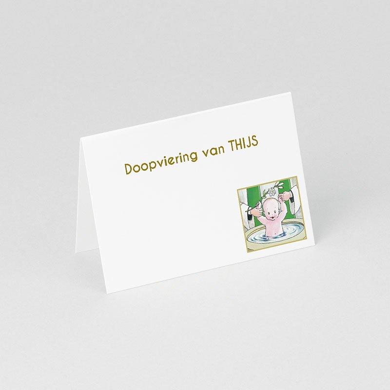 Tafelkaartjes Doop Illustratie doopsel gratuit