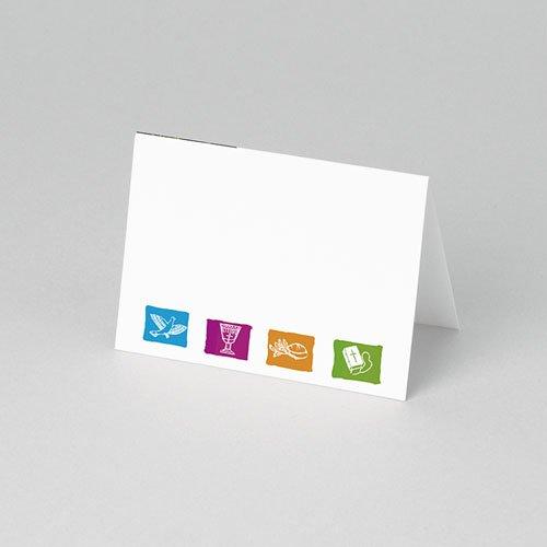 Plaatskaartjes Communie Gedoopt in puur wit pas cher
