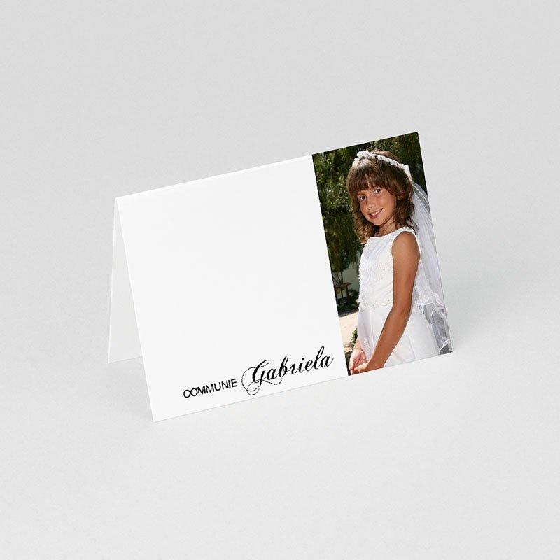Plaatskaartjes Communie Gedoopt in puur wit gratuit