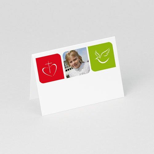 Tafelkaartjes Communie Moderne communie gratuit