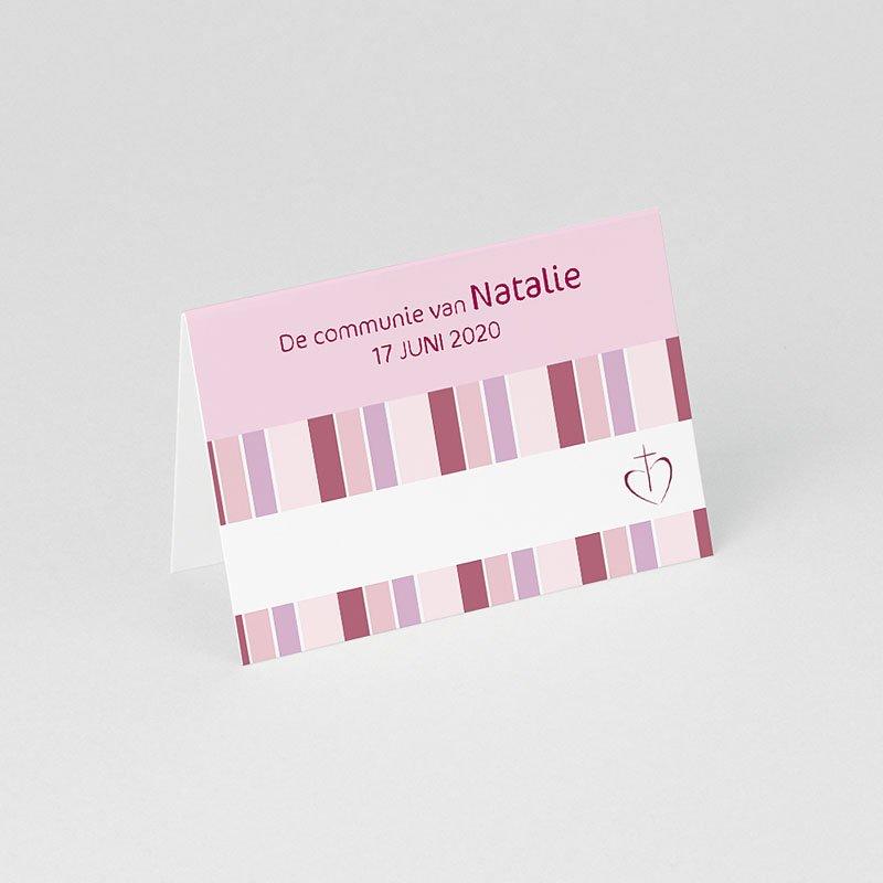 Plaatskaartjes Communie Snoeproze communie gratuit