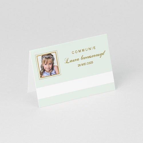 Tafelkaartjes Communie Licht groene communie gratuit