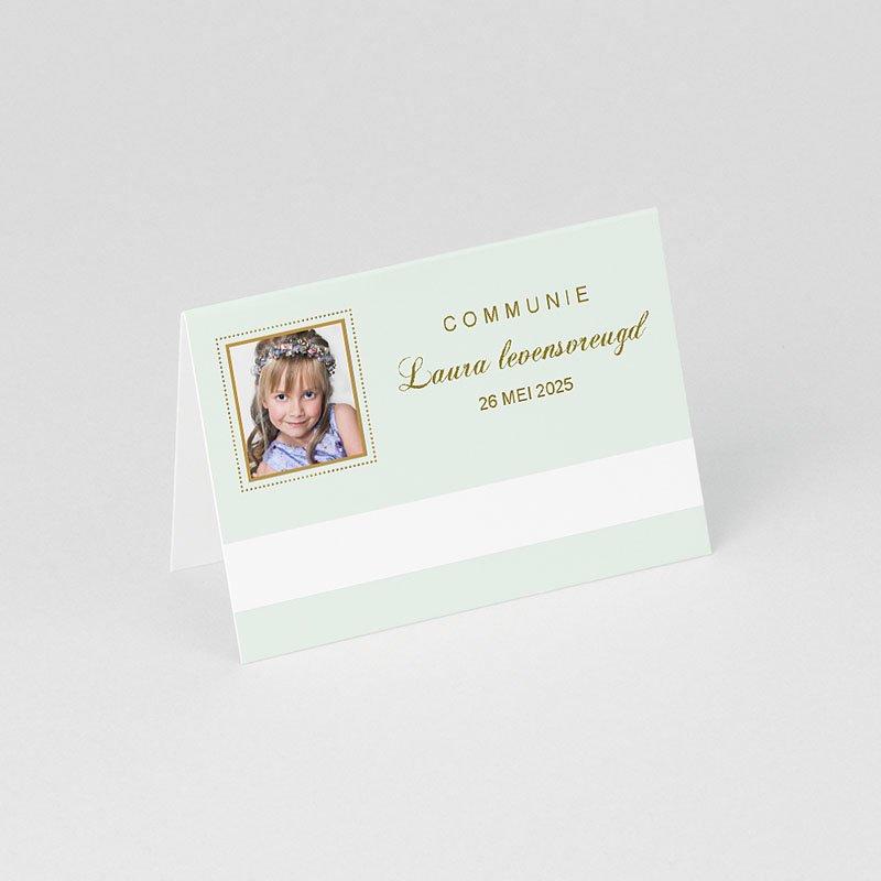 Plaatskaartjes Communie Licht groene communie gratuit