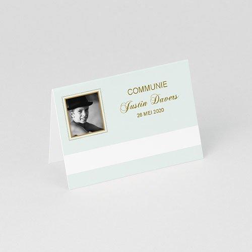 Tafelkaartjes Communie Licht groene communie, zoon gratuit