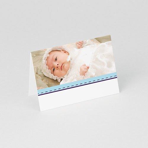 Tafelkaartjes Doop Hemels blauw gratuit