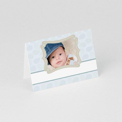 Plaatskaartjes doopviering Doop met blauw gratuit