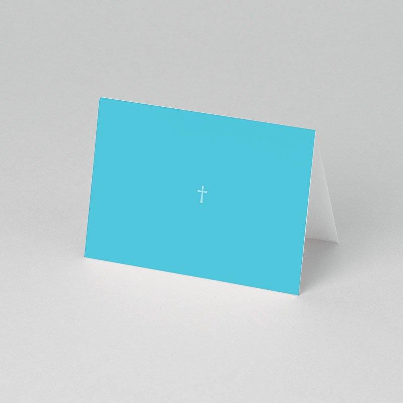 Plaatskaartjes doopviering - Blauw rozenkrans en kruis 75838 thumb