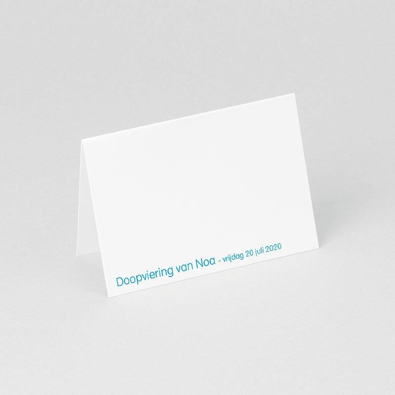 Plaatskaartjes doopviering - Blauw rozenkrans en kruis 75839 thumb