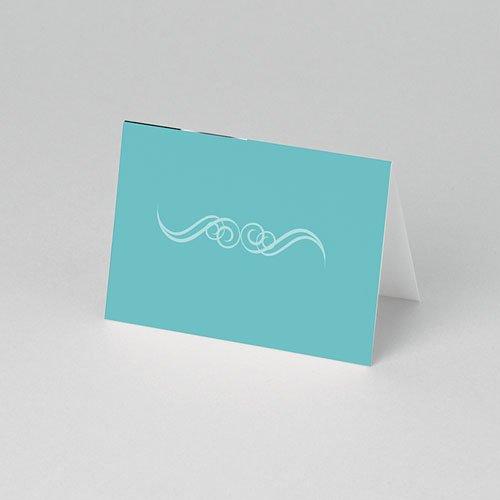 Tafelkaartjes Communie Turquoise en bruidsuiker pas cher