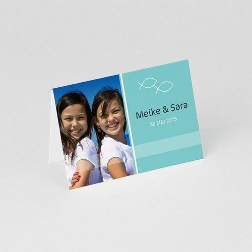 Tafelkaartjes Communie Als twee visjes gratuit