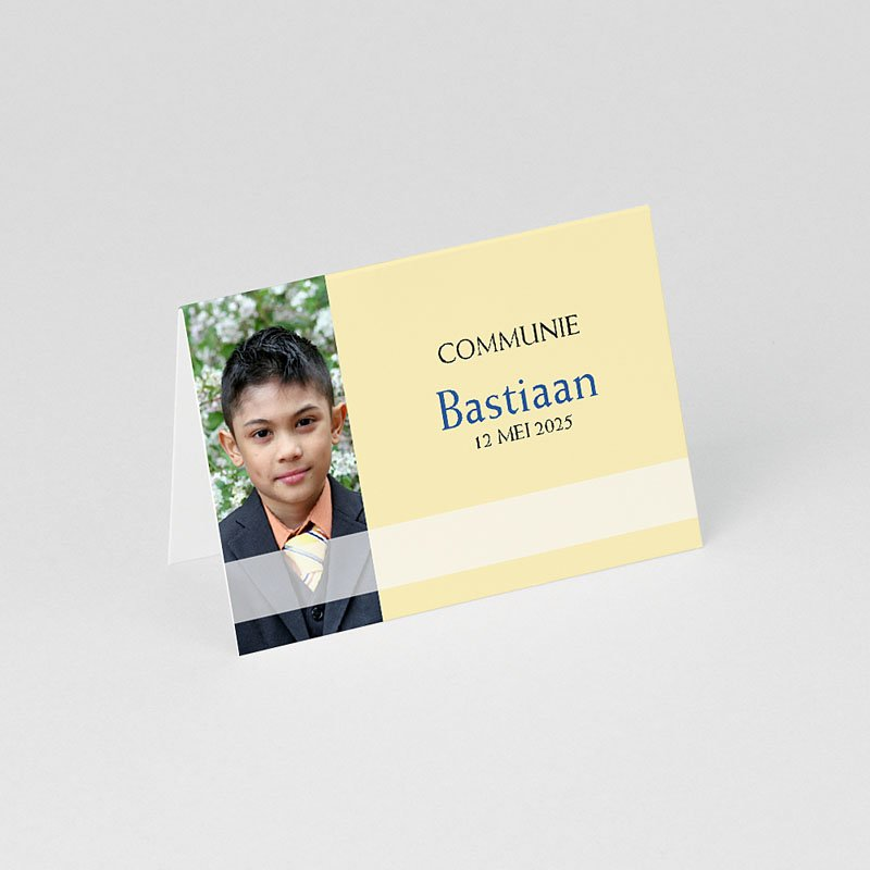 Tafelkaartjes Communie Tussen de symboliek gratuit