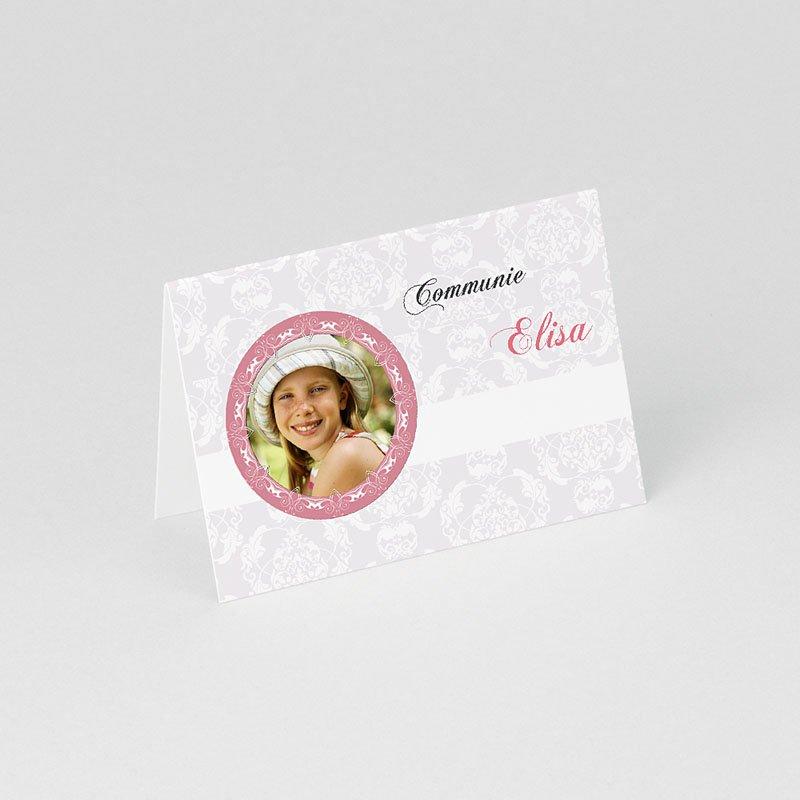 Tafelkaartjes Communie Lief portretje gratuit