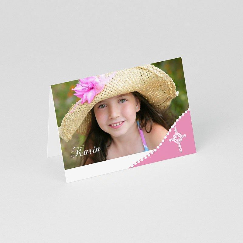 Plaatskaartjes Communie Roze om de hoek gratuit