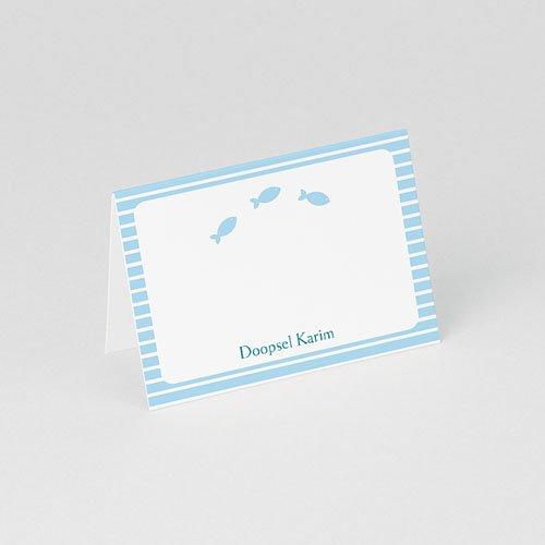 Tafelkaartjes Doop Blauw water gratuit