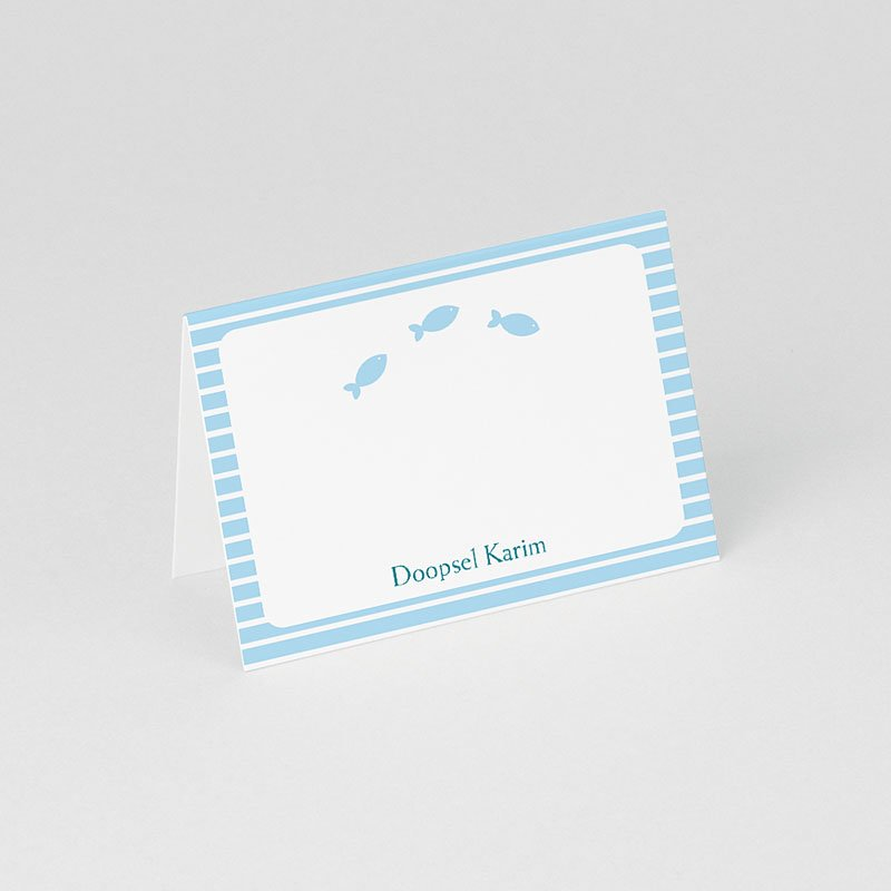 Plaatskaartjes doopviering Blauw water gratuit