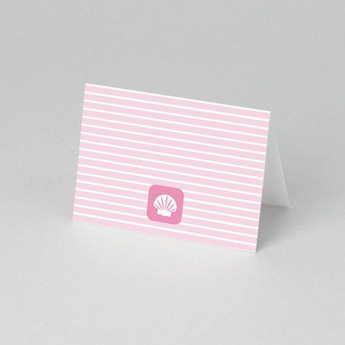 Tafelkaartjes Doop Maritiem, roze pas cher