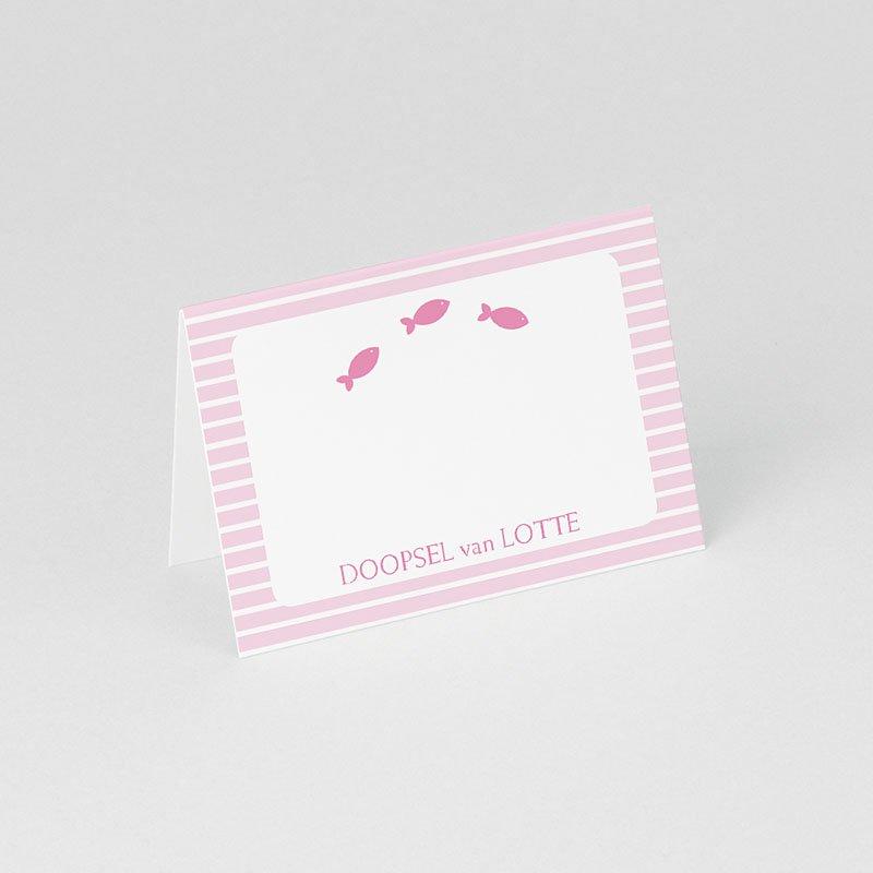Tafelkaartjes Doop Maritiem, roze gratuit