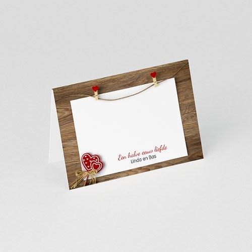 Personaliseerbare plaatskaartjes voor verjaardag Hart voor hout  gratuit