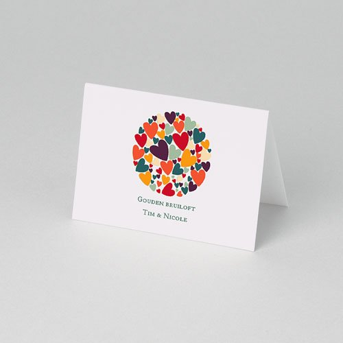 Personaliseerbare plaatskaartjes voor verjaardag - Hartjes bij elkaar 75908 thumb
