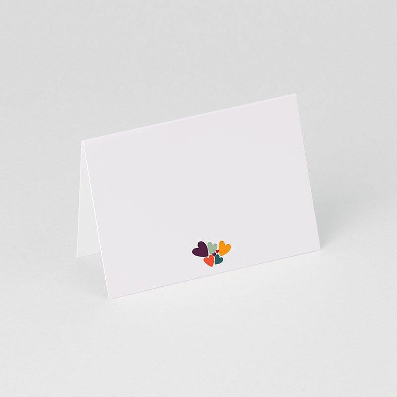 Personaliseerbare plaatskaartjes voor verjaardag - Hartjes bij elkaar 75909 thumb