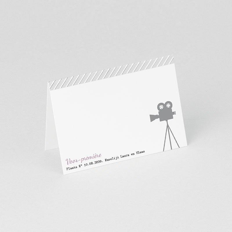 Personaliseerbare plaatskaartjes huwelijk Bioscoopkaartje gratuit