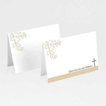 Plaatskaartjes Communie suiker communiekaartje