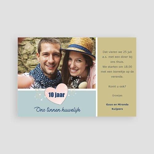 Huwelijk Uitnodigingen Verjaardag 10 jaar huwelijk, pastel pas cher