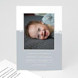Doopkaartjes met foto Brush Effect